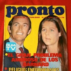 Coleccionismo de Revista Pronto: PRONTO Nº 31 (1972) TONY RONALD - LOS BARNAD - ENFERMEDADES POR LA TV - ANDY WILLIAMS (DIFICIL). Lote 137281106