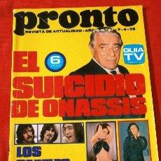 Coleccionismo de Revista Pronto: PRONTO Nº 4 (1973) (DIFICIL) RAPHAEL - MANOLO ESCOBAR - ONASSIS - VUELVEN LOS BEATLES - MASSIEL. Lote 137292114