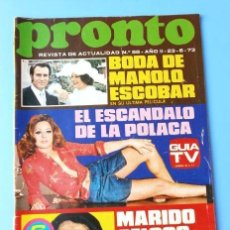 Coleccionismo de Revista Pronto: PRONTO Nº 58 (1973) (DIFICIL) RAPHAEL - LA POLACA - MANOLO ESCOBAR - BRUNO LOMAS -HOMENAJE A PAJARES. Lote 137315214