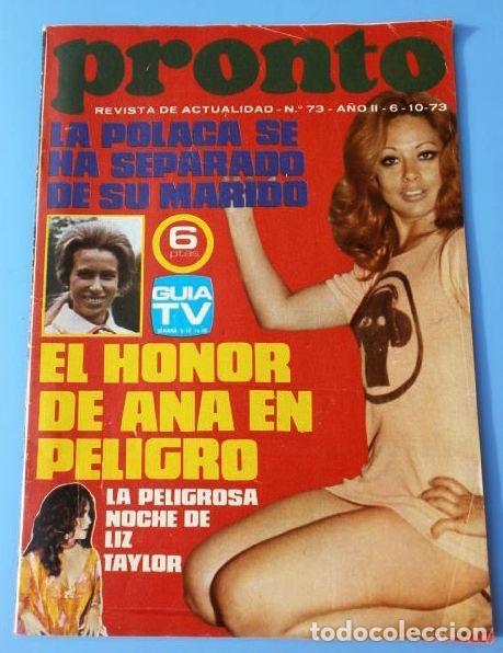 PRONTO Nº 73 (1973) (DIFICIL) LA POLACA - CAMILO SESTO - SUSAN DAY - EMMA COHEN (Papel - Revistas y Periódicos Modernos (a partir de 1.940) - Revista Pronto)