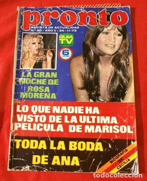 PRONTO Nº 80 (1973) (DIFICIL) MARISOL ÚLTIMA PELICULA - FICHA DE: CECILIA - RINGO STARR (Papel - Revistas y Periódicos Modernos (a partir de 1.940) - Revista Pronto)
