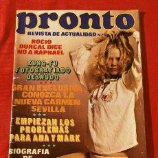 Coleccionismo de Revista Pronto: PRONTO Nº 90 (1974) (DIFICIL) ROCIO DURCAL - CARMEN SEVILLA - KUNG-FU - JUNIOR - NINO BRAVO SU VIDA. Lote 137346290