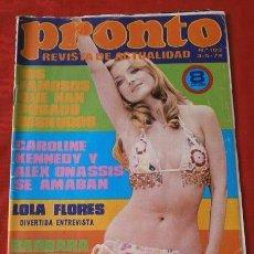 Coleccionismo de Revista Pronto: PRONTO Nº 103 (1974) BEN MURPHY - LOLA FLORES - PALOMA HURTADO - JUAN BAU - PIO CABANILLAS. Lote 137352570