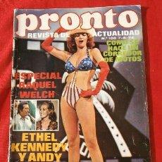 Coleccionismo de Revista Pronto: PRONTO Nº 108 (1974) RAQUEL WELCH - MAXIMO VALVERDE - MUERE DUKE ELLINGTON - NATALIE WOOD. Lote 137361882