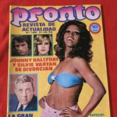 Coleccionismo de Revista Pronto: PRONTO Nº 126 (1974) SANCHO GRACIA - BRIGITTE BARDOT - PETER SELLERS - MUSEO DALI - ESPECIAL JUNIOR. Lote 137362830