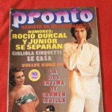 Coleccionismo de Revista Pronto: PRONTO Nº 130 (1974) CIGLIOLA CINQUETTI - KUNG FU - AGATA LYS -PALITO ORTEGA - NIXON - BOB DYLAN . Lote 137363566