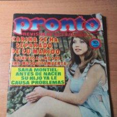 Coleccionismo de Revista Pronto: PRONTO NUM 136 19-12-74. Lote 138687118