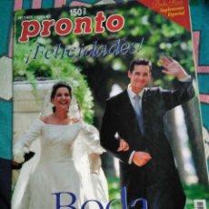 Coleccionismo de Revista Pronto: REVISTA PRONTO BODA IÑAKI URDANGARIN CRISTINA BORBON AÑO 1997. Lote 139640565