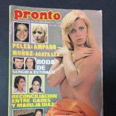 Coleccionismo de Revista Pronto: REVISTA PRONTO 1975 TONY RONALD MANOLO OTERO CARMEN PLATERO MARIA SALERNO MARIO BEUT RAPHAEL MOCHI. Lote 140162190