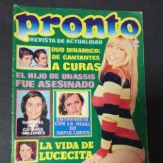Coleccionismo de Revista Pronto: PRONTO 1975 RAFFAELLA CARRA AGATA LYS MARCIA BELL DUO DINAMICO MASSIEL JUNIOR CALZASLARGAS MALLORCA. Lote 142818562