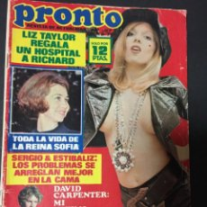 Coleccionismo de Revista Pronto: PRONTO 1975 SUSANA ESTRADA SERGIO Y ESTIBALIZ BRAULIO BASILIO NINO BRAVO SANTABARBARA CONCHA VELASCO. Lote 140205210