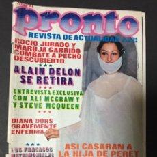 Coleccionismo de Revista Pronto: REVISTA PRONTO 1974 LOS BEATLES ANA BELEN DAVID CARRADINE PERET LOLA FLORES VICTORIA HERNAN ALAIN DE. Lote 140206638