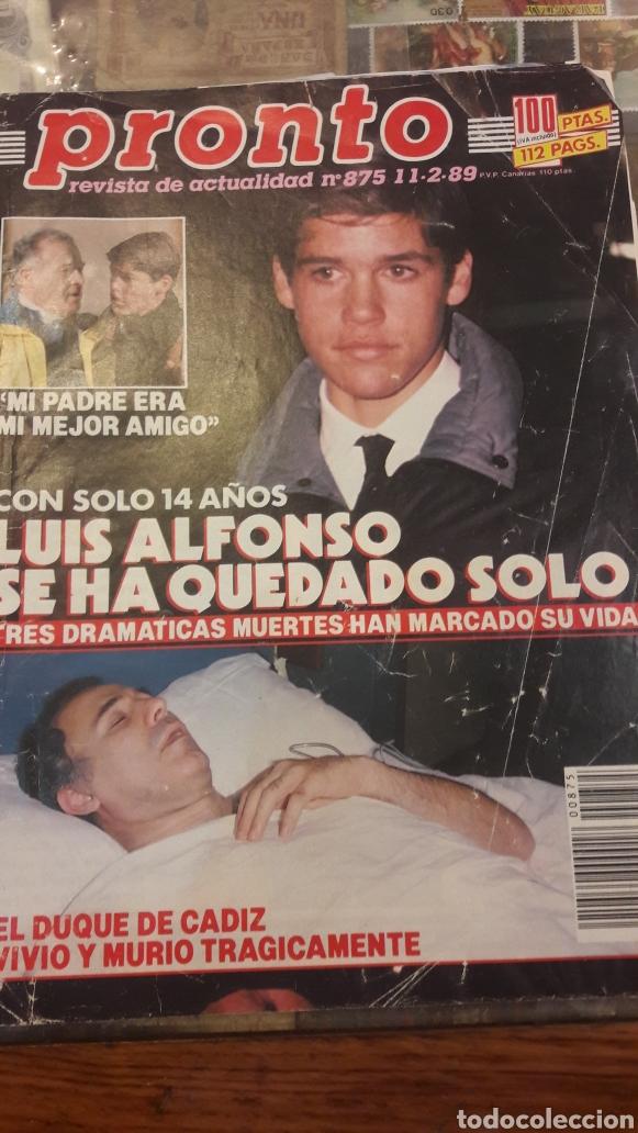PRONTO NUM 875 LUIS ALFONSO SE HA QUEDADO SOLO DUQUE DE CADIZ (Papel - Revistas y Periódicos Modernos (a partir de 1.940) - Revista Pronto)
