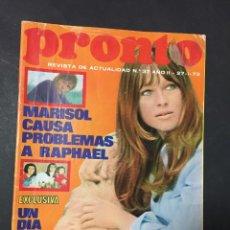 Coleccionismo de Revista Pronto: PRONTO 1973 ROCIO DURCAL MARISOL BANGLADESH KIKO LEDGARD UN DOS TRES CORIN TELLADO . Lote 140683174