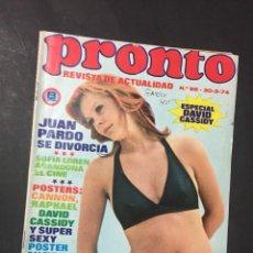 Coleccionismo de Revista Pronto: PRONTO 1974 BEATLES DAVID CASSIDY PATTY BRAVO LUIS AGUILE CANNON JUAN PARDO RAPHAEL JOSE GUARDIOLA. Lote 141127430
