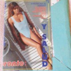 Coleccionismo de Revista Pronto: CARPETA CON FICHAS DE SALUD Y BELLEZA. REVISTA PRONTO. AÑOS 80. Lote 142267890