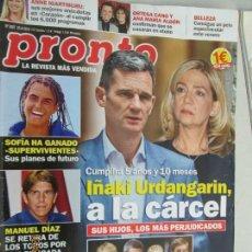 Coleccionismo de Revista Pronto: PRONTO Nº 2407 23-06-.2018. Lote 142613198