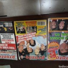 Coleccionismo de Revista Pronto: LOTE REVISTAS PRONTO AÑOS 80. Lote 142800134