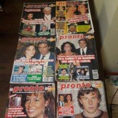 Coleccionismo de Revista Pronto: LOTE REVISTAS PRONTO. Lote 142884976