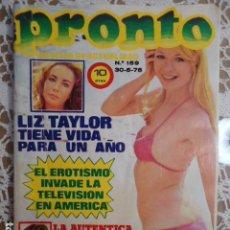 Coleccionismo de Revista Pronto: PRONTO Nº 159 LONA FLEMING MARISOL MONICA RANDALL BRUNO LOMAS ANALIA GADE NURIA ESPERT M. J. CANTUDO. Lote 143813070