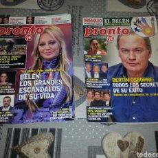 Coleccionismo de Revista Pronto: REVISTAS PRONTO. Lote 143869466