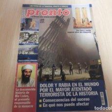 Coleccionismo de Revista Pronto: REVISTA PRONTO 22/09/2001 - Nº1533 TORRES GEMELAS. Lote 147082602