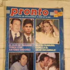 Coleccionismo de Revista Pronto: REVISTA PRONTO. Nº 890. 27/5/1989. Lote 147527854