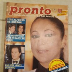 Coleccionismo de Revista Pronto: REVISTA PRONTO. Nº 906. 16/9/1989. GRAVE PROBLEMA PARA ISABEL PANTOJA.. Lote 147528670