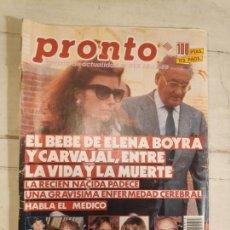 Coleccionismo de Revista Pronto: REVISTA PRONTO Nº 915. 18/11/1989. Lote 147529682