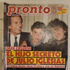 Coleccionismo de Revista Pronto: REVISTA PRONTO Nº 926.3/2/1990. Lote 147530254