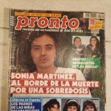 Coleccionismo de Revista Pronto: REVISTA PRONTO Nº 990. 27/4/1991. Lote 147531138