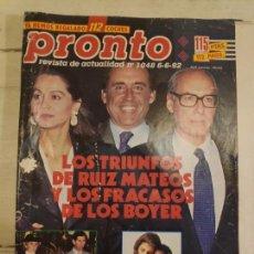 Coleccionismo de Revista Pronto: REVISTA PRONTO Nº 1048. 6/6/1992. Lote 147531798
