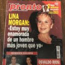 Coleccionismo de Revista Pronto: REVISTA PRONTO AÑO 1995 / Nº1201 ISABEL PANTOJA / LINA MORGAN. Lote 148208982