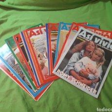 Coleccionismo de Revista Pronto: COLECCION COMPLETA 24 NUMEROS ASI VIVIO ROMY SCHNEIDER PRONTO MUY BUEN ESTADO. Lote 150576813