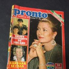 Coleccionismo de Revista Pronto: PRONTO 10/82 SERIE V UN DOS TRES RESPONDA OTRA VEZ MECANO SARA MONTIEL CONCHA VELASCO. Lote 151430582