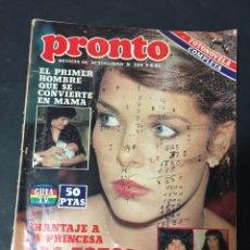 Coleccionismo de Revista Pronto: PRONTO 8/82 EUGENIO DALLAS ROCIO JURADO CONCHITA BAUTISTA FOFITO SILVIA MARSO MORIA CASAN CARME MAUR. Lote 151466942