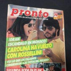 Coleccionismo de Revista Pronto: REVISTA PRONTO 6/85 PLAN LADY DIANA PAJARES MARIA CASANOVA STEVE MCQUEEN FRANCISCO . Lote 151467082
