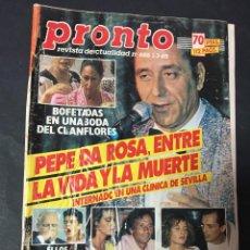 Coleccionismo de Revista Pronto: REVISTA PRONTO 7/85 ROCIO DURCAL MIGUEL RIOS BOSE RAPHAEL AGUSTIN PANTOJA VICTORIA ABRIL LAMAS FLORE. Lote 151467226