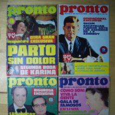 Coleccionismo de Revista Pronto: LOTE REVISTA PRONTO 26 Y 27 DE 1972 Y 46 Y 48 DE 1973 REVISTAS. Lote 151640150