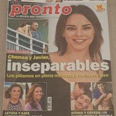 Coleccionismo de Revista Pronto: REVISTA PRONTO - LA REVISTA MÁS VENDIDA DE ESPAÑA Nº 2424. Lote 152111614