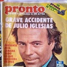 Coleccionismo de Revista Pronto: REVISTA PRONTO CON POSTAL DE BOTILDE DEL UN DOS TRES. Lote 154431138