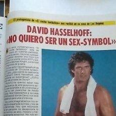 Coleccionismo de Revista Pronto: REVISTA PRONTO 747 DAVID HASSELHOFF EL COCHE FANTÁSTICO REBECA HOLDEN , MADONNA AÑO 1985. Lote 154874946