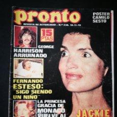 Coleccionismo de Revista Pronto: PRONTO - REVISTA 18 11 1976. Lote 155778668