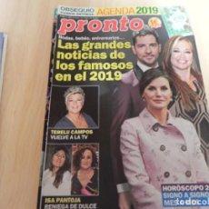 Coleccionismo de Revista Pronto: REVISTA PRONTO Nº 2435 AÑO 2019. ISA PANTOJA / TERELU CAMPOS / FAMOSOS 2019 / BISBAL / ........ Lote 156893650