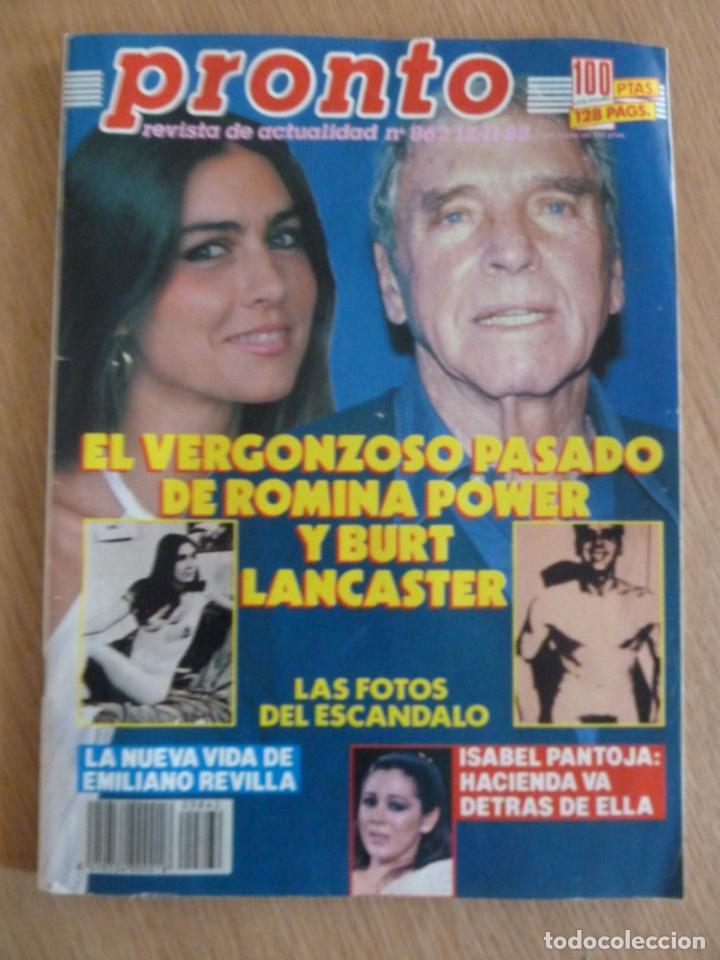 REVISTA PRONTO Nº 862 AÑO 1988 BURT LANCASTER ROMINA POWER PERFECTO ESTADO (Papel - Revistas y Periódicos Modernos (a partir de 1.940) - Revista Pronto)