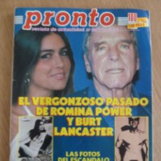 Coleccionismo de Revista Pronto: REVISTA PRONTO Nº 862 AÑO 1988 BURT LANCASTER ROMINA POWER PERFECTO ESTADO. Lote 157130914