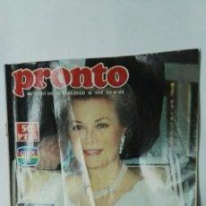 Coleccionismo de Revista Pronto: REVISTA PRONTO N 542 27/09/1982 GRACE KELLY. Lote 157848564