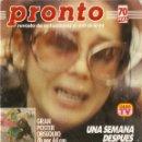 Coleccionismo de Revista Pronto: REVISTA PRONTO 649 ISABEL PANTOJA MUERTE PAQUIRRI LOLA FLORES YIYO MARILYN MONROE CAROLINA DE MONACO. Lote 160414038
