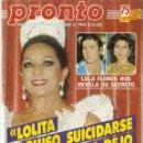 Coleccionismo de Revista Pronto: REVISTA PRONTO Nº 704 LOLA FLORES LOLITA ISABEL PANTOJA JAMES DEAN ROCIO JURADO MARIA JOSE CANTUDO . Lote 160415558