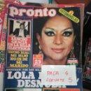 Coleccionismo de Revista Pronto: REVISTA PRONTO 309 * BODA DE LOLITA + LOLA FLORES + SANCHO GRACIA + RINGO STAR * 61. Lote 160582822